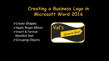 Word 2016 Certification Project - Logo for a Restaurant (Creating a Graphic)