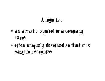 Business Logo lesson/presentation