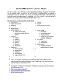 Business Management Capstone Project