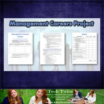 Business Management Careers-Presentation, Notes, & Project