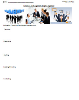 Business Management Functions 2 Activities/Research w/Answer Key Word & PDF