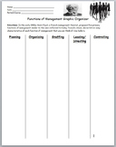 Business Management- Functions of Management Graphic Organizer