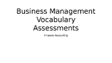 Business Management Lesson Plan - Accounting vocabulary an