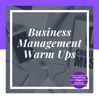 Business Management Warm Ups