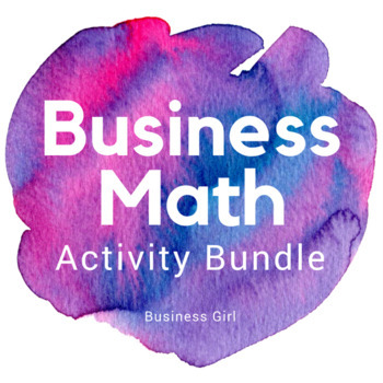 Business Math Activity Bundle