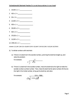 Business Math - Estimation and Solving Math Problems by Hand