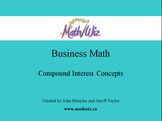 Business Math - Compound Interest Concepts