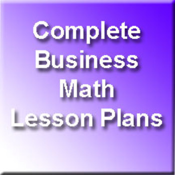 Business Math Finances - Unit 5 of 6 (Includes the Car Loa