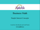 Business Math - Simple Interest Concepts
