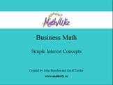 Business Math - Simple Interest Concepts