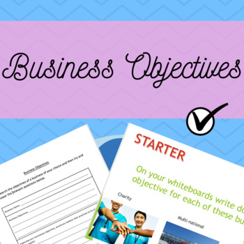 Business Objectives - Full Lesson