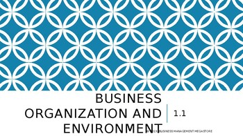 Business Organization and Environment - Unit 1.1 Introduction and Sample