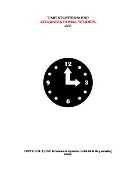 Business Organizational Studies: Time Stuffers