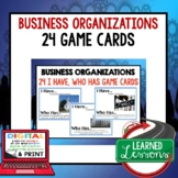 Business Organizations GAME CARDS (Economics and Free Enterprise Test Prep)