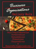 Business Organizations Gallery Walk