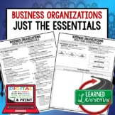 Business Organizations Outline Notes, Bullet Notes, Unit Review, Economic Notes