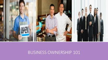 Business Ownership 101 Lesson