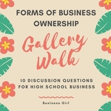 Business Ownership Discussion Questions for Gallery Walk