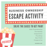 Business Ownership Escape Activity
