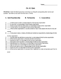 Business Ownership Quiz - Intro to Business Ch. 6