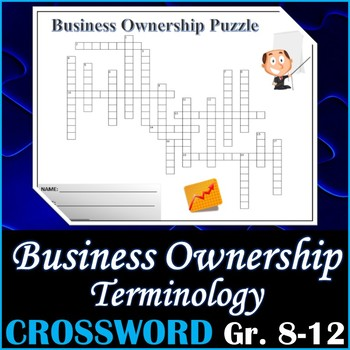 Business Ownership Terminology Crossword Puzzle Activity Worksheet