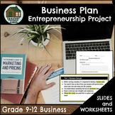 Business Plan Entrepreneurship Project (Grade 9-12)
