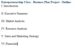 Business Plan Project - Entrepreneurship/Career Class