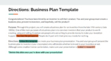 Business Plan for Inventions Template