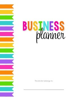 Business Planner: TpT seller and blog planner, organizational printables, & MORE
