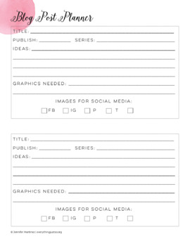 Business Planner for TPT Sellers and Bloggers