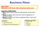 Business Plans - Business Studies Planning - PPT & Create Your Own Business Plan