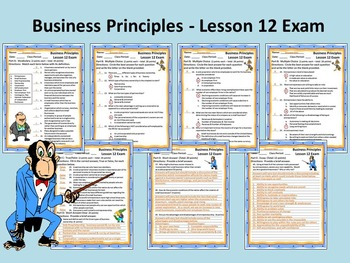 Business Principles - Lesson 12 Exam