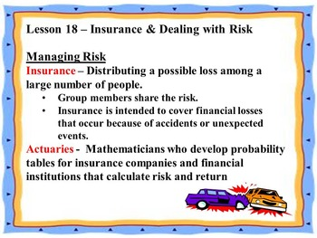 Business Principles - Lesson 18: Insurance & Dealing With Risk