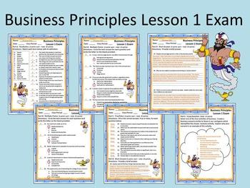Business Principles - Lesson 1 Exam