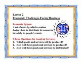 Business Principles - Lesson 2: Economic Challenges Facing Businesses
