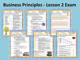 Business Principles - Lesson 2 Exam