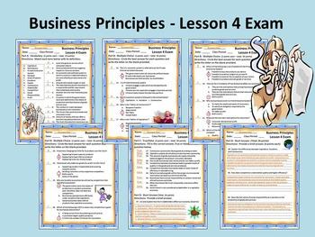 Business Principles - Lesson 4 Exam