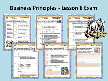 Business Principles - Lesson 6 Exam