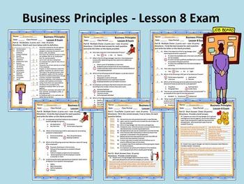 Business Principles - Lesson 8 Exam