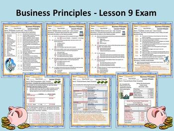 Business Principles - Lesson 9 Exam