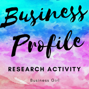 Business Profile Research Activity