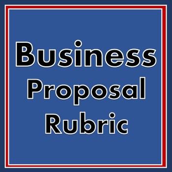 Business Proposal Rubric - Editable Rubric for Business Class or English