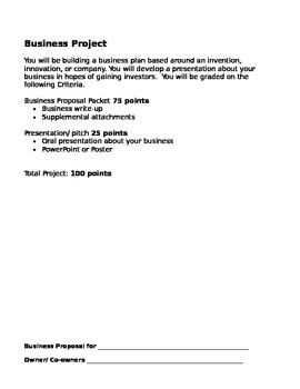 Business Proposal using Scientific method