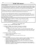 Business Shark Tank Project and Supplemental Activities/Worksheets