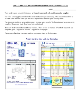 Business Sheets/ Invoice, sales/Computer Activity