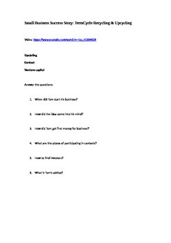 Business Story video + answer-the-questions task