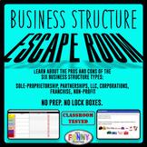Business Structures Escape Room