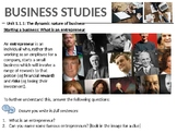 Business Studies: The dynamic nature of busin