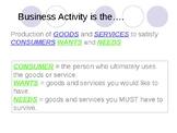 Business Studies - Understanding Business Activity - Busin