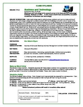 Business & Technology Syllabus